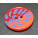 Bouton tache rouge orange 23mm