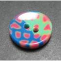 Bouton tache vert bleu 13 mm b1
