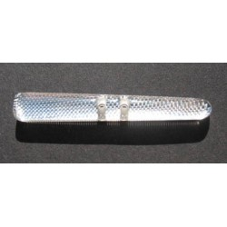 Buchette translucide inclusion tissu metal 45 mm b64