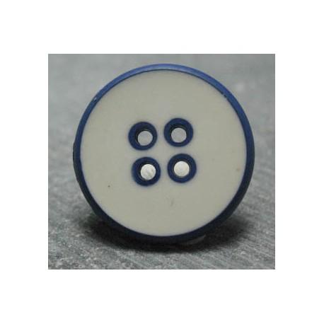 Bouton blanc gitane 22 mm b55