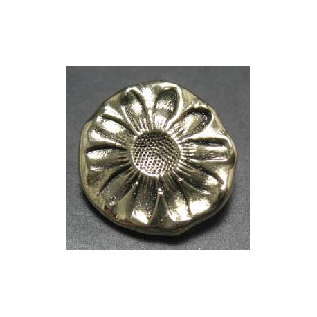 Bouton doré paquerette 22 mm b1