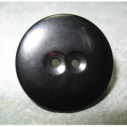 Bouton noir brillant 30 mm b65