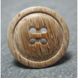 Bouton imitation bois 18 mm b66