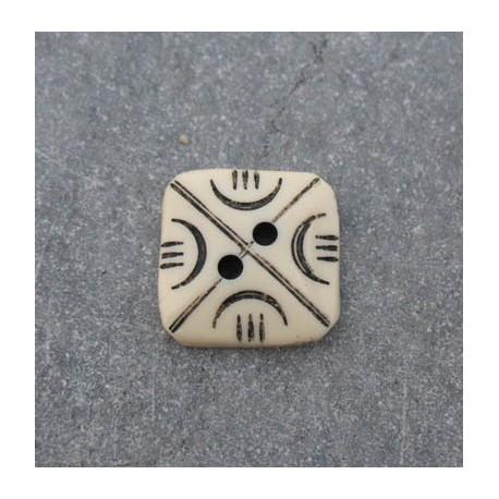 Bouton gravure carré 15 mm b10