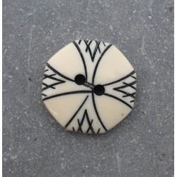 Bouton gravure hexagonal 17mm