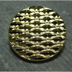 Bouton gaufré doré 27 mm b35