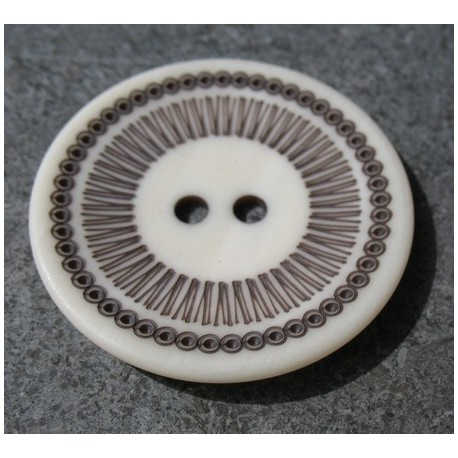 Bouton roulette blanche 44 mm  b60
