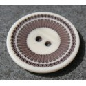 Bouton roulette blanche 34 mm  b60