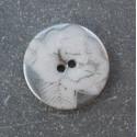 Bouton rose blanc argent 18 mm b35