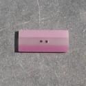 Bouton rectangle berlingot rose violet horizontal 35 mm b37b