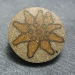 Bouton edelweiss beige 28 mm b69