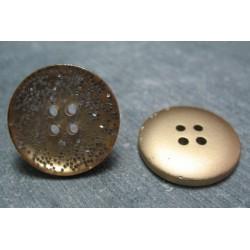 Bouton or paillette argent 23mm