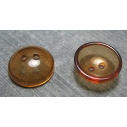 Bouton lentille caramel 18 mm b65