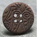 Bouton ciselé marron 25 mm b62