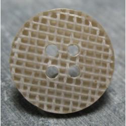 Bouton toile 1 coton effet loupe 18mm