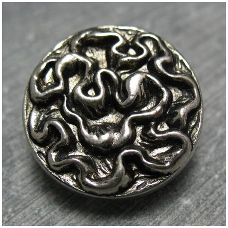 Bouton vieil argent 22 mm b19