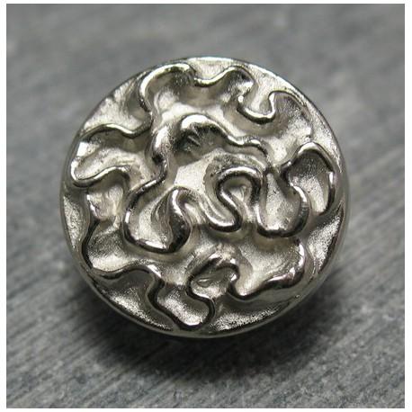 Bouton coloris argent 15 mm b19
