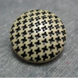 Bouton pied de poule écru 22 mm b71