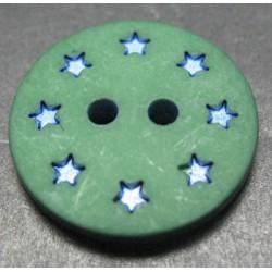 Bouton étoile vert 18 mm b53