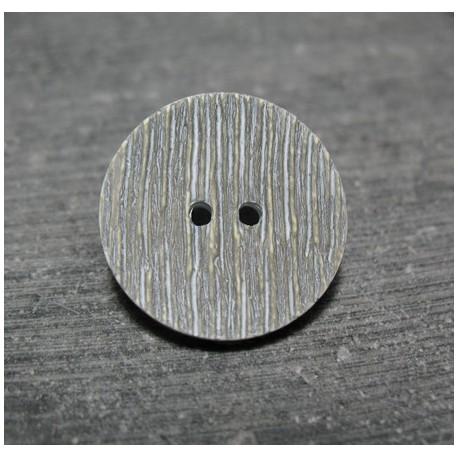 Bouton strie vert de gris 22 mm b39