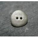 Bouton quadrille gris amande 15 mm b37b
