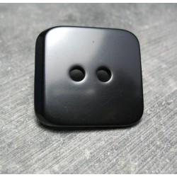 Bouton carre noir 38 mm b72