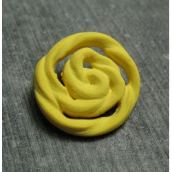 Bouton rose jaune 22 mm b72