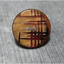 Bouton imitation bambou 20 mm b20b