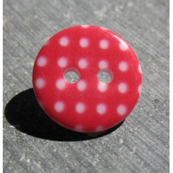 Bouton pois3  rouge blanc 15 mm b70