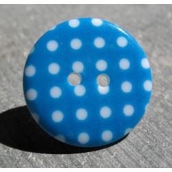 Bouton pois6  bleu blanc 23 mm b70