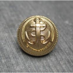 Bouton ancre doré 18mm