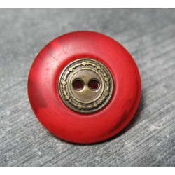 Bouton pneu rouge orange 22mm