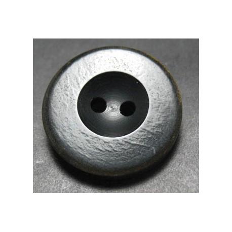 Bouton corne noir brun 27 mm b65