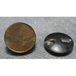 Bouton corne plateau 22 mm b69