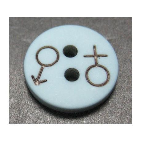 Bouton h f bleu gris 12 mm b57