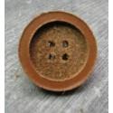 Bouton cuir pastille 18 mm b20b
