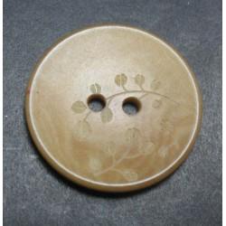 Bouton corozo fleur caramel 25 mm b50