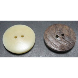 Bouton corozo naturel 23 mm b65