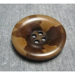 Bouton corozo camouflage marron 25 mm b50