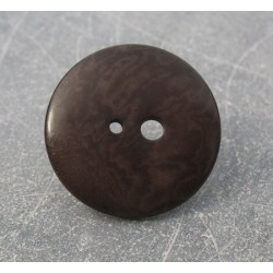 Bouton corozo grand petit trou marron 30mm