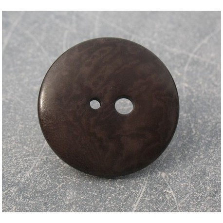 Bouton corozo grand petit trou marron 30 mm b50