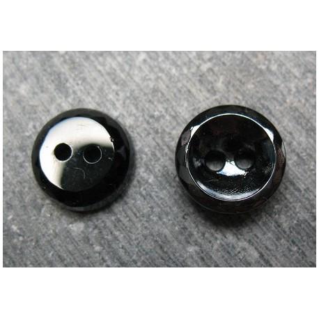 Bouton verre noir mini facette 11 mm b16