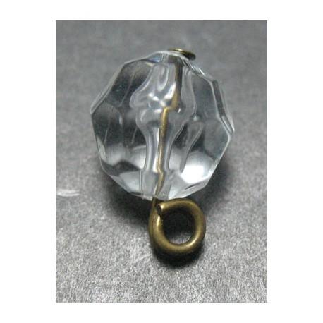 Perle résine biseautée 11 mm b19