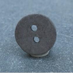 Bouton céramique gris 13 mm b14