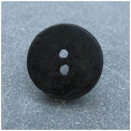 Bouton céramique noir 18mm