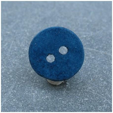 Bouton céramique bleu 18 mm b14