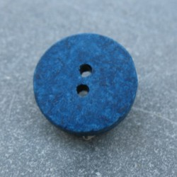 Bouton céramique bleu 13 mm b14
