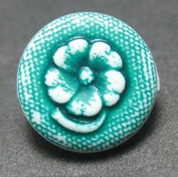 Bouton fleur verte 10 mm  b62