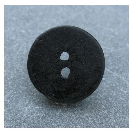 Bouton céramique noir 24 mm b14