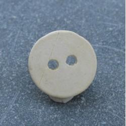 Bouton céramique écru 13mm